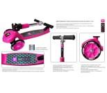 Самокат Y-Scoo RT Trio 120 Neon розовый