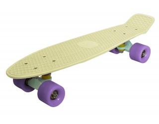 Мини круизер Fish Skateboard 22 кремово-желтый
