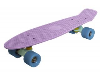 Мини круизер Fish Skateboard 22 кремово-сиреневый