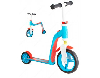 Беговел-самокат Scoot&Ride Highway Baby 2 в 1 голубой с красным