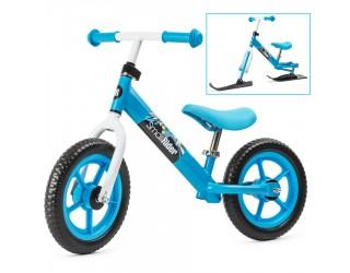 Беговел Small Rider Combo Racer 2 в 1 с лыжами и колесами синий
