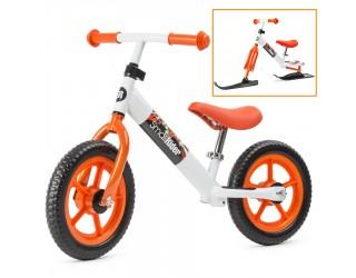 Беговел Small Rider Combo Racer 2 в 1 с лыжами и колесами оранжевый
