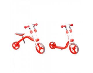 Беговел-самокат Y-Bike Y-Velo Loopa красный