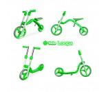 Беговел-самокат Y-Bike Y-Velo Loopa зеленый