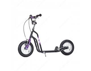 Самокат Yedoo Wzoom черно-фиолетовый