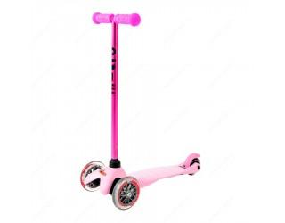 Самокат Micro Mini Candy розовый с прозрачными колесами
