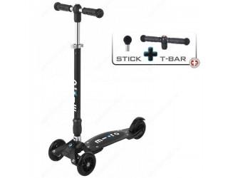 Самокат Micro Kickboard Compact Stick+T-tube черный