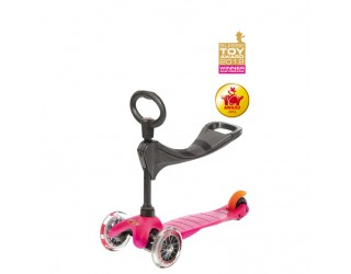 Самокат Micro Mini 3 в 1 розовый