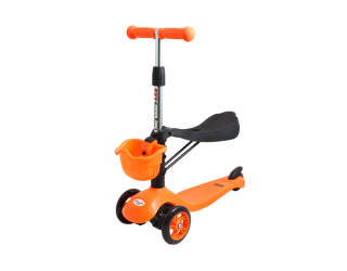 Самокат TechTeam Sky Scooter оранжевый