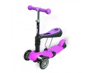 Каталка-самокат Y-Bike Glider Seat 3 в 1 розовый