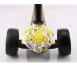 Самокат Y-Scoo Kick Print желтый пират