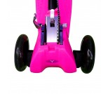 Самокат Y-Scoo Maxi City RT Shine Gagarin с ручным тормозом розовый