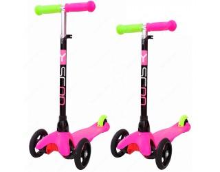 Самокат Y-Scoo Mini Glam RT розовый