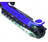 Самокат Y-Scoo Maxi Laser Show черно-синий