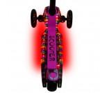 Самокат Y-Scoo Maxi Laser Show черно-розовый