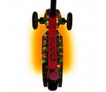 Самокат Y-Scoo Maxi Laser Show черно-красный
