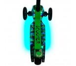 Самокат Y-Scoo Maxi Laser Show Metallic зеленый