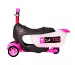 Самокат Y-Scoo Mini Jump&Go розовый