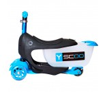 Самокат Y-Scoo Mini Jump&Go Shine голубой