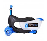 Самокат Y-Scoo Mini Jump&Go Shine синий