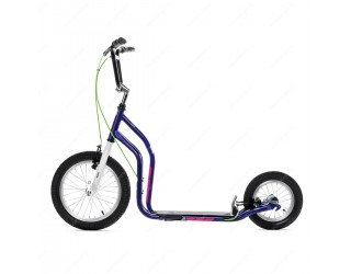 Самокат Yedoo City Premium фиолетово-белый