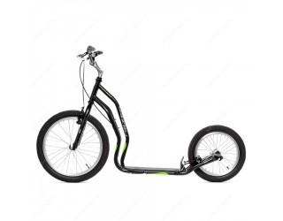 Самокат Yedoo Mezeq V-Brake Premium черно-зеленый