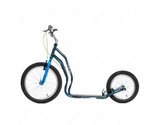 Самокат Yedoo Mezeq V-Brake Premium сине-серый
