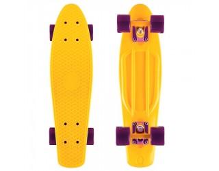 Мини круизер Fish Skateboard 22 Yellow/Dark Purple