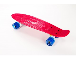 Мини круизер Fish Skateboard 22 розово-синий