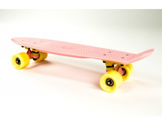 Мини круизер Fish Skateboard 22 розово-желтый