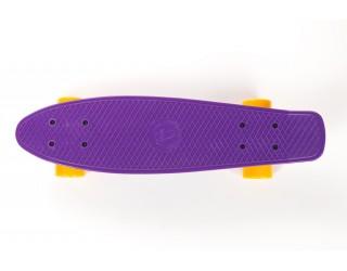 Мини круизер Fish Skateboard 22 фиолетово-желтый