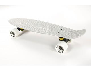 Мини круизер Fish Skateboard 22 белый с белыми колесами
