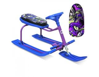Снегокат Барс Teens 206 Граффити фиолетово-синий