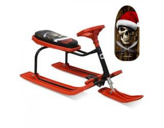 Снегокат Барс Teens 206 Пират черно-красный