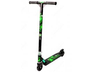 Самокат eXplore Stunt Scoo черный-зеленый