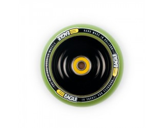 Колесо для трюкового самоката Eagle Core Black / Green PU 100 мм
