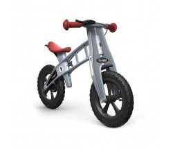 Беговел FirstBike Cross серебристый