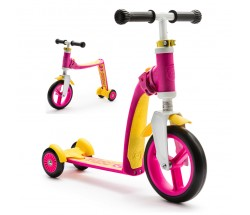 Беговел-самокат Scoot&Ride Highway Baby Plus розово-желтый